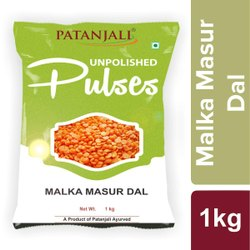 Patanjali Unpolished Malka Masoor Dal, Packaging Size: 500 g