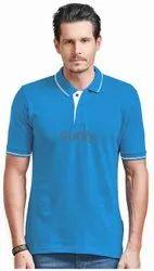 Ruffty Half Sleeve Mens Collar Neck Cotton T Shirt, Size: Small