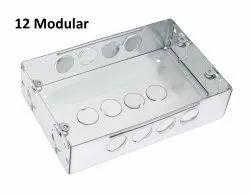 Galvanized Iron (GI) Rectangular Modular Electrical Box