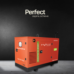 25 kVa Mahindra Powerol Silent Gas Genset