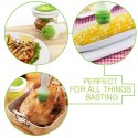 Silicone Oil Bottle Brush Dispenser Glass Bowl Container And Silicone Pastry Brush Set For Cooking