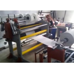 Semi- Automatic Non Woven Fabric Slitting Rewinding Machine, 5 HP Ac, 100 Mpm