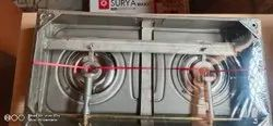 2 Stainless Steel Surya Gas Stoves, For Kitchen