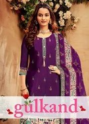 Gulkand Imported Cotton Long Salwar Suits Catalog