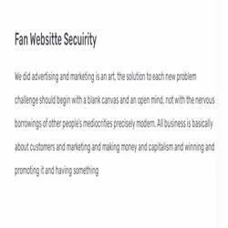 Fan Websitte Security