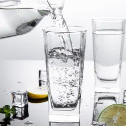 Transparent Glass Water Glasses Set, Set Of 6, 220 Ml Each (dy5403-12), For Home