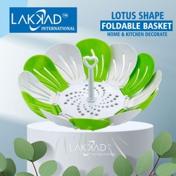Plastic Multicolor Fruit Basket, For Multiuse, Circular