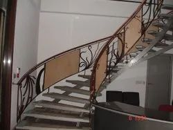 Ss Ornamental Stairs Railing, For Home