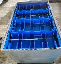 Plain Bio-degradable FLC Foldable Plastic Pallet Box, For Industrial