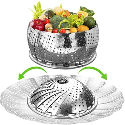Stainless Steel Commercial Food Warmer Vegetable Steamer Basket