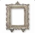 Silver Plated Metal Mirror Square For Wall Hanging.