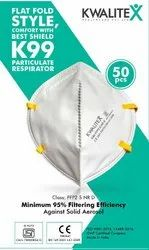 3M PP Spun Bond With Melt Blown K99 Respiratory Dust Face Mask, For Filter Efficiency: 99.20%, Certification: Iso Certified