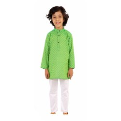 Casual Wear Kids Cotton Kurta Pajama Set, Size: Medium