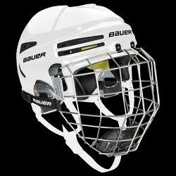 Black and white Bauer Ice Hockey Helmet