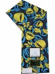 African Wax Print Cotton Fabric, For Saree, GSM: 200GSM
