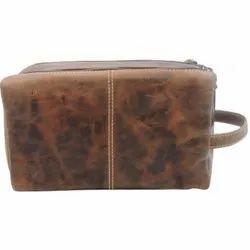 Designer Leather Toiletry Bag