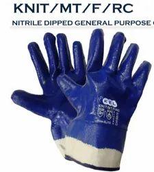 Nitrile Dipped General Purpose Glove - KNIT/MT/F/RC