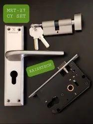 Zinc Lever Fancy Mortise Handle Lock, silver satine, Model Name/Number: MRT-27