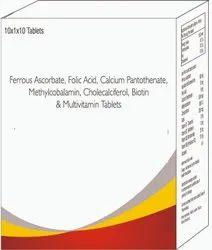 Ferrous Ascorbate, Folic Acid, Calcium Methylcobalamin, Cholecalcifermultivitamin Tablets