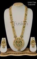 Fusion Arts Meenakari Kundan Long Necklace Set