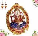 Nirmala Handicrafts Exporter Metal Multi color Ganesha Wall Hanging Metal Wall Decor