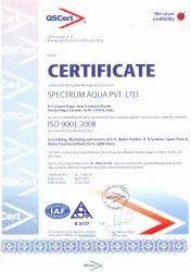 ISO Certified 9001:2008 Certificate