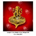 Gold Metal Kala Ganesh God Statue