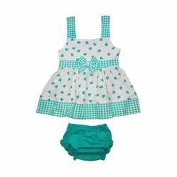 Half Sleeve Frock with Panty For Baby Girls