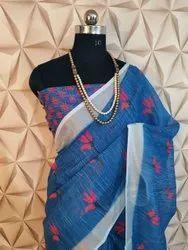 Soft Linen Silk Saree