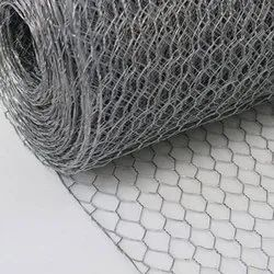 Fine SS Silver Hexagonal Wire Mesh, For Industrial