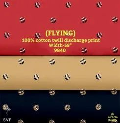 Flying 100% Cotton Twill Discharge Print Shirting Fabric