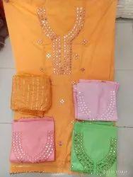 Kesari Cotton, Jaam Satin Ladies Suit Material, For Kurti