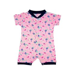 100% Cotton Half Sleeve Baby Rompers For Unisex