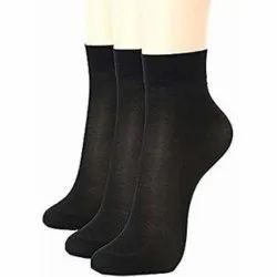 Ladies Black Nylon Socks