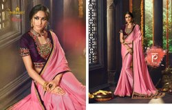 Pure Fancy Fabric Saree With Blouse Piece