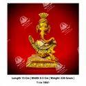 Metal Kala Chowki Ganesha God Statue