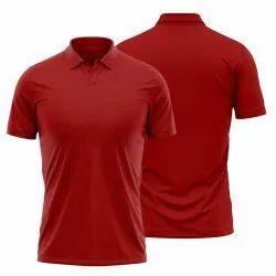 Men Polo Red T Shirt