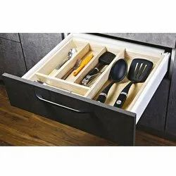 Slimline Cutlery Tray For 450 -600 Mm Drawer Adjustable Wooden