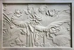 White marble Sandstone Wall Mural