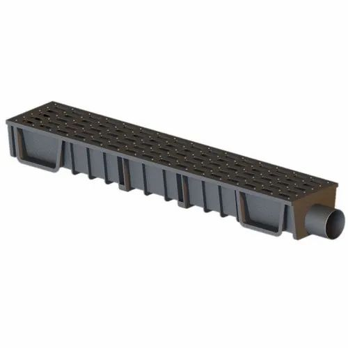 PVC Channel Drain With  Grating