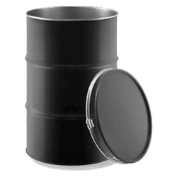 Black Single Mouth UN Approved Packaging Drum, Capacity: 200 L