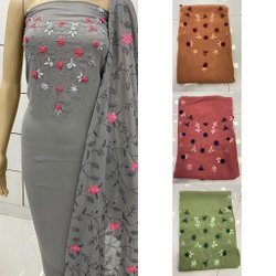 Designer Georgette Hand Work Dress Material
