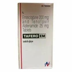 Tafero EM Tablet(Emtricitabine (200mg) + Tenofovir disoproxil fumarate (25mg)