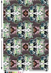 Polyester Digital Printed Fabrics, Multicolour