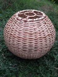 Willow Cane Round Hanging Lamp