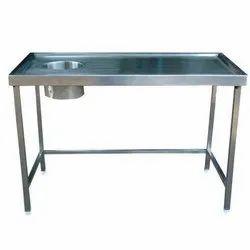 Dish Landing Table With Garbage Chute