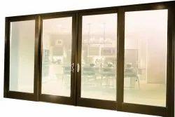 Closet Doors UPVC Four Panel Sliding Door, For Hotel, Exterior