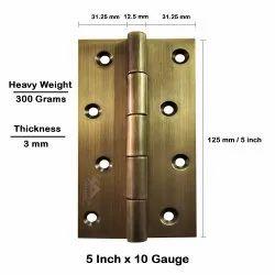 Atlantic Door Butt Hinges 5 inch x 10 Gauge/3 mm Thickness (Stainless Steel, Antique Finish)