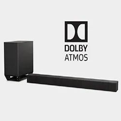 Black Sony HT-ST5000 Wireless Soundbar Home Theatre