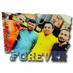 AHBM Friends Forever Glitter Hardboard
